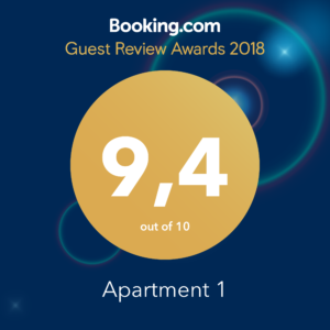 Guest Review Award 2018 Apartment 1