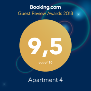 Guest Review Award 2018 Apartment 4