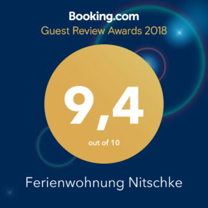 Guest Review Award 2018 Feriwnwohnung Nitschke
